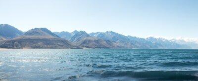 Sticker Landschaft des Sees im Sommertag in Neuseeland