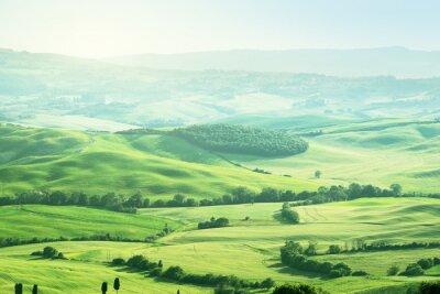 Sticker Landschaft in der Toskana, Italien