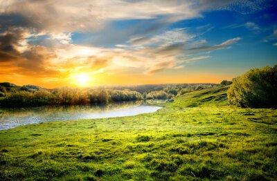Landschaft mit der rive