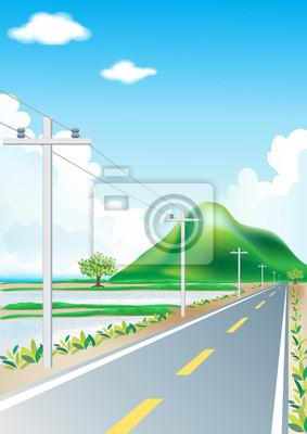 Landschaft Road Trip an der Natur