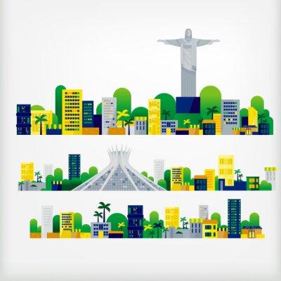 Sticker Landschaft von Brasilien