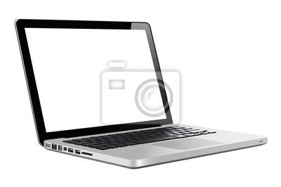 Laptop in einer flachen Vektorart
