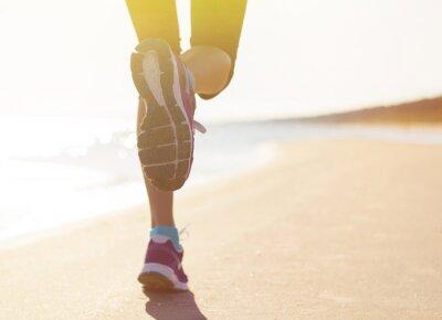 Sticker Laufen auf den Strand
