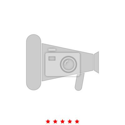 Lautsprecher oder megaphon ist es symbol. notebook-sticker ...