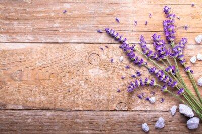 Sticker Lavendel auf Holz