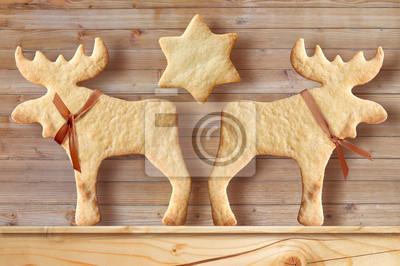 Lebkuchen auf Holzuntergrund