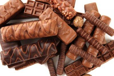 Sticker Leckere Schokolade mit Nüssen Nahaufnahme