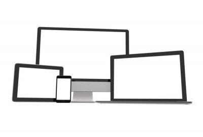 Leere digitale Bildschirme