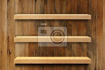 Leere Holz Regal