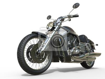 Sticker Leistungsstarke Vintage Motorrad - Closeup