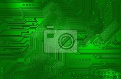 Leiterplatte - Motherboard - im grünen - Vektor