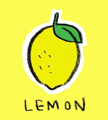 Sticker Lemon auf gelbem Hintergrund