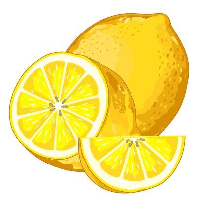 Sticker Lemon isoliert auf weißem Hintergrund.