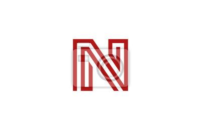 Sticker Letter N Logo Vector Alphabet Design Element Template ABC Conce