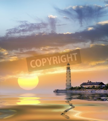Sticker Leuchtturm