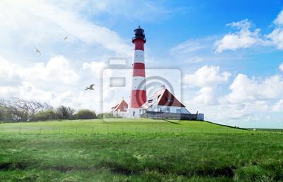 Leuchtturm Westerheversand In Schleswig Holstein Norddeutschland