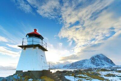 Sticker Leuchturm auf den Lofoten