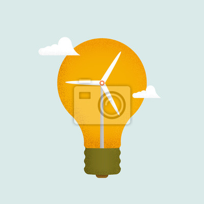 Light bulb and wind mill generator.