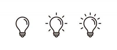 Sticker Light Bulb icon set, Idea icon symbol vector