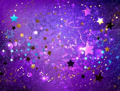 Sticker Lila Hintergrund mit Sternen
