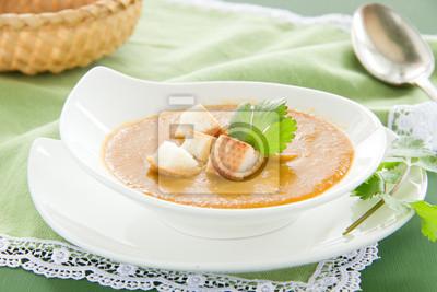 Linsensuppe mit Curry.