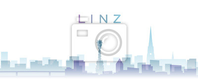 Linz Transparent Layers Gradient Landmarks Skyline
