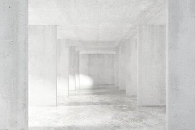 Sticker Loft-Stil-Tunnel mit vielen Wänden in leichten leeren Gebäude