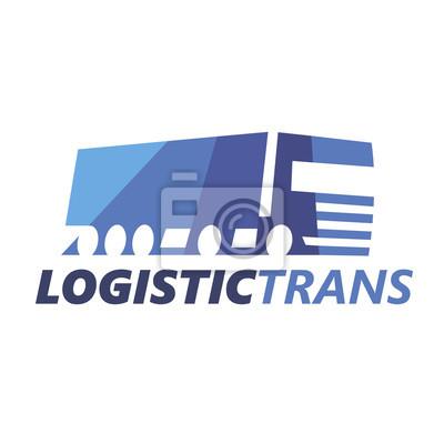 Logistic Truck Logotype Vorlage. Vektor.