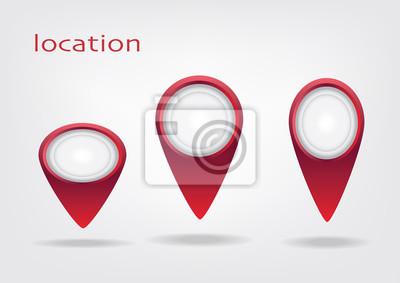 Lokalizzatore und marcatore mappe icone rosso