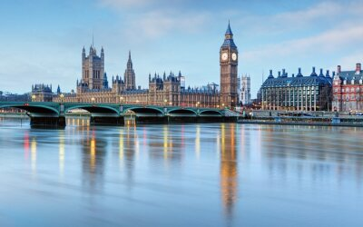 Sticker London - Big Ben und Häuser des Parlaments, Großbritannien