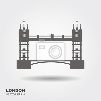 London Bridge Logo. Attraktion der Hauptstadt von England