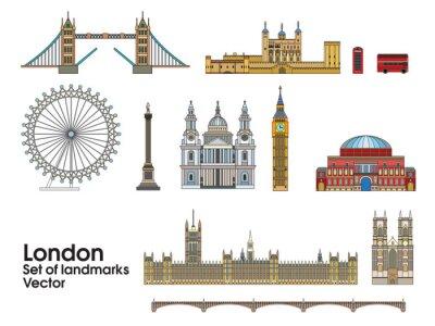 London colorful line art 1