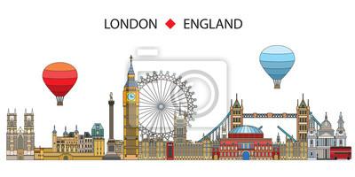 London colorful line art 6