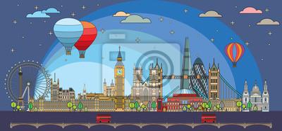 London colorful line art 8