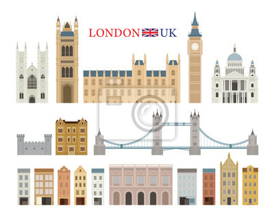 London, England and United Kingdom Building Landmarks