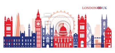 London, England and United Kingdom Landmarks Skyline