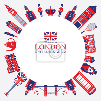 London, England and United Kingdom Tourist Attractions Frame