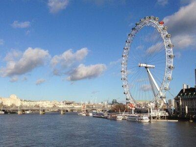 Sticker London eye in sonnigen Tag