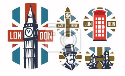 London flache illustration