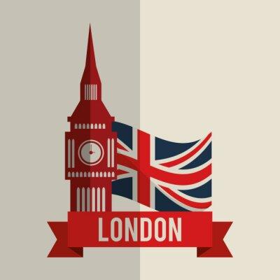 Sticker London-Ikonenentwurf