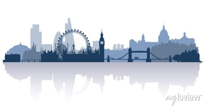 Sticker london in flat stile vector