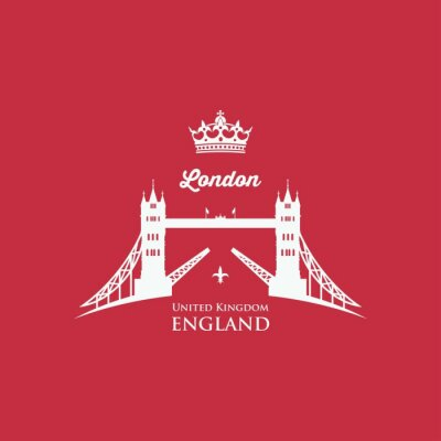 Sticker London-Kontrollturm-Brücke