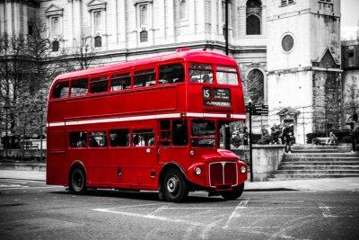 Sticker London's ikonischen Doppeldeckerbus.