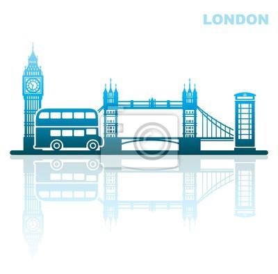 London Sehenswürdigkeiten. Abstrakte Landschaft
