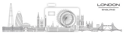 London skyline line art 8
