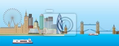 London Skyline-Panorama Illustration