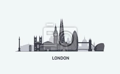 London Skyline Schattenbild