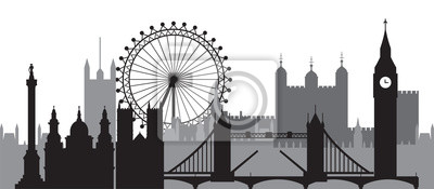 London Skyline silhouette 1