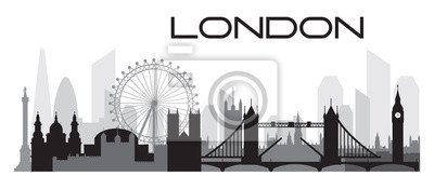 London Skyline silhouette 2