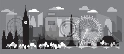London Skyline silhouette 3
